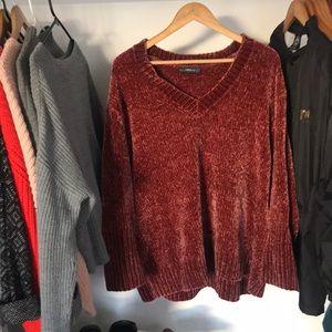 Oversized Zara Chenille Vneck Sweater